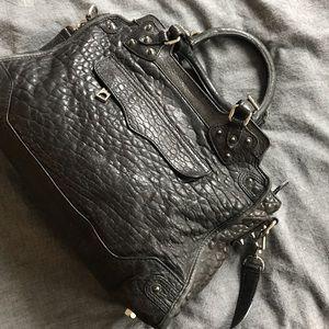 Black Croc Embossed Rebecca Minkoff Bag